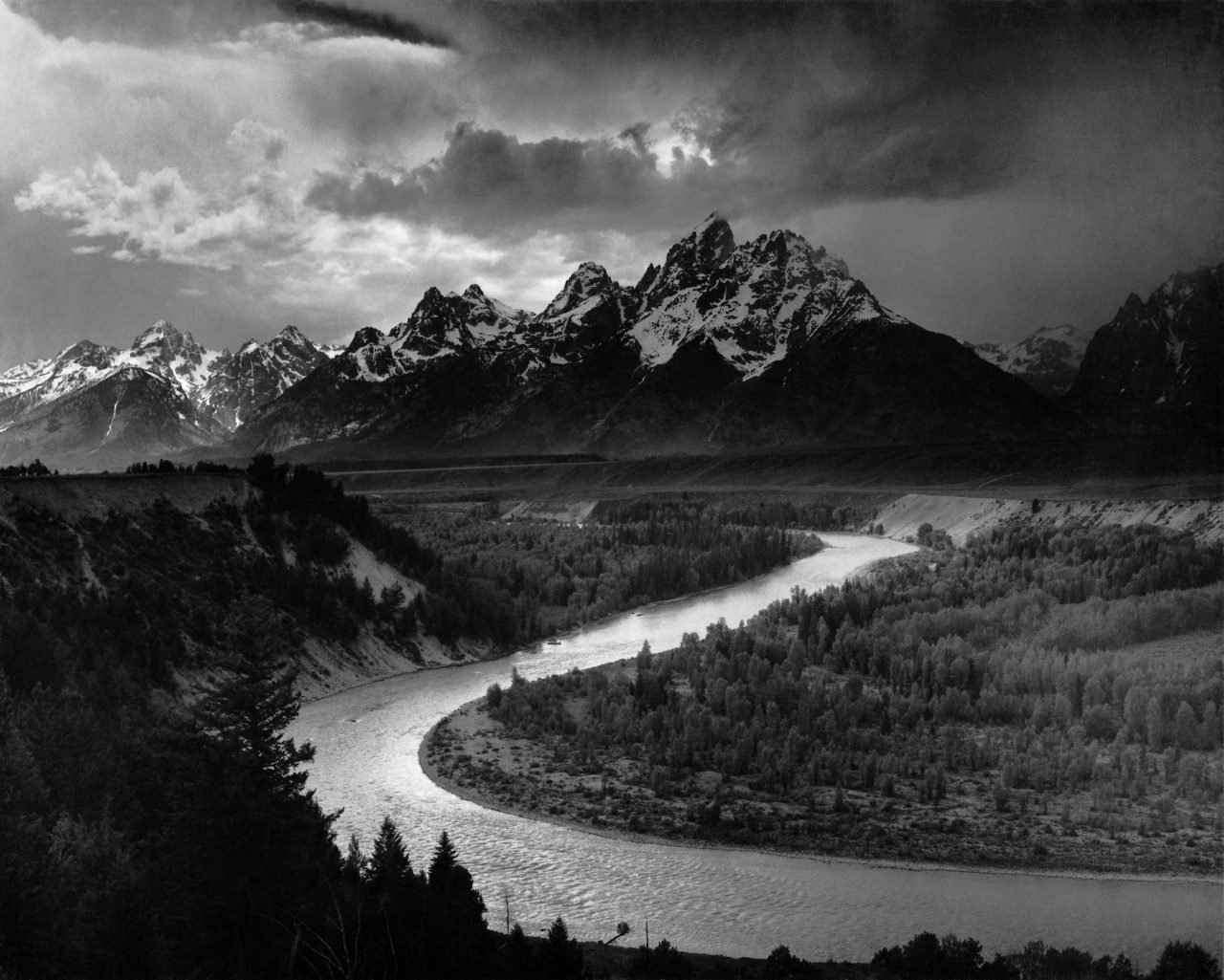 Ansel Adams, The Tetons and_the Snake River
